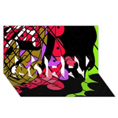Elegant abstract decor SORRY 3D Greeting Card (8x4)