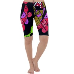 Elegant abstract decor Cropped Leggings