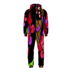 Elegant abstract decor Hooded Jumpsuit (Kids)