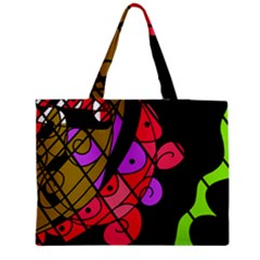 Elegant abstract decor Medium Zipper Tote Bag