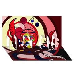 Octopus BEST SIS 3D Greeting Card (8x4)