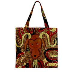 Billy goat Zipper Grocery Tote Bag