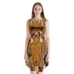 Billy Goat Sleeveless Chiffon Dress