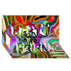 Colorful goat Best Friends 3D Greeting Card (8x4)