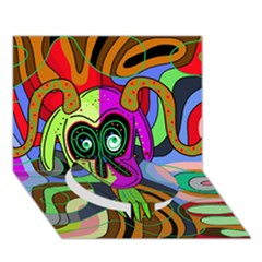 Colorful goat Circle Bottom 3D Greeting Card (7x5)