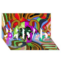 Colorful Goat #1 Dad 3d Greeting Card (8x4)