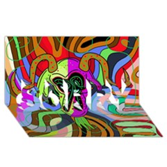 Colorful goat SORRY 3D Greeting Card (8x4)