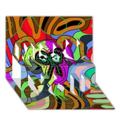 Colorful goat Miss You 3D Greeting Card (7x5)