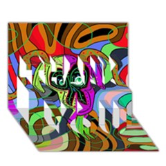Colorful goat THANK YOU 3D Greeting Card (7x5)