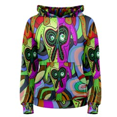 Colorful goat Women s Pullover Hoodie