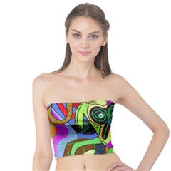 Colorful goat Tube Top
