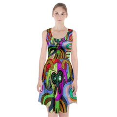 Colorful goat Racerback Midi Dress