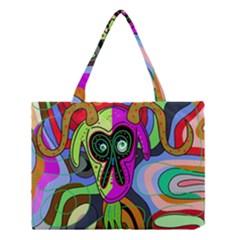 Colorful Goat Medium Tote Bag