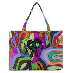Colorful goat Medium Zipper Tote Bag