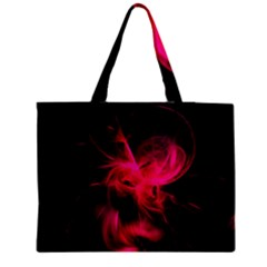 Pink Flame Fractal Pattern Medium Zipper Tote Bag
