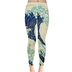 Great Wave Off Kanagawa Leggings