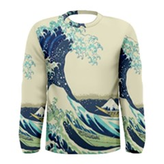 The Great Wave Men s Long Sleeve Tee
