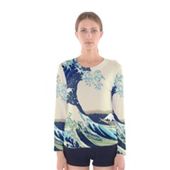 The Great Wave Women s Long Sleeve Tee