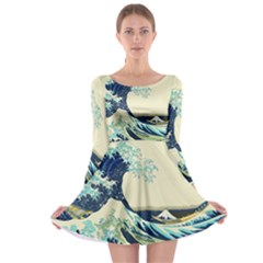 The Great Wave Long Sleeve Skater Dress