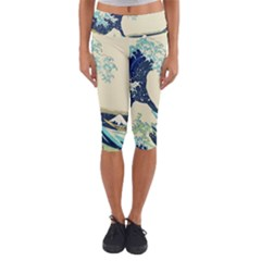 The Great Wave Capri Yoga Leggings