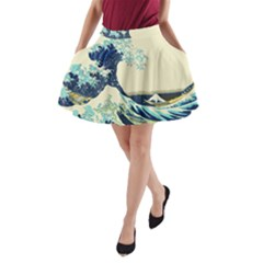 The Great Wave A Line Pocket Skirt