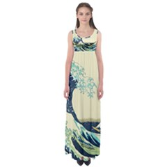 The Great Wave Empire Waist Maxi Dress