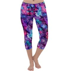 Glowing Abstract Capri Yoga Leggings