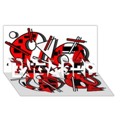 88 ENGAGED 3D Greeting Card (8x4)