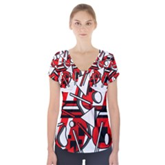 88 Short Sleeve Front Detail Top