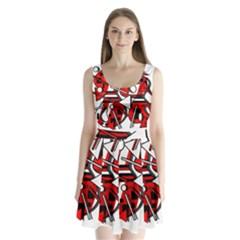 88 Split Back Mini Dress