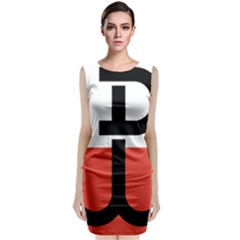 Flag Of The Polish Underground State, 1939 1945 Classic Sleeveless Midi Dress