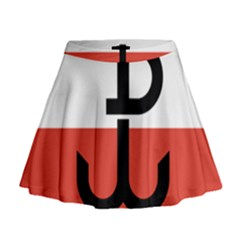 Flag Of The Polish Underground State, 1939 1945 Mini Flare Skirt
