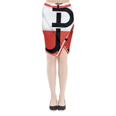 Flag of the Polish Underground State, 1939-1945 Midi Wrap Pencil Skirt