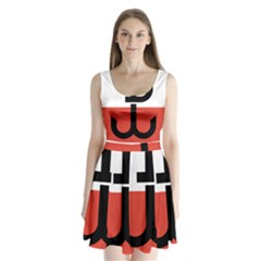 Flag Of The Polish Underground State, 1939 1945 Split Back Mini Dress