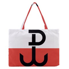 Flag of the Polish Underground State, 1939-1945 Medium Zipper Tote Bag