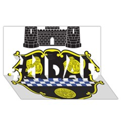 Pittsburgh Coat of Arms  #1 DAD 3D Greeting Card (8x4)