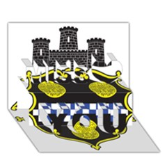 Pittsburgh Coat of Arms  Miss You 3D Greeting Card (7x5)