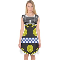 Pittsburgh Coat of Arms  Capsleeve Midi Dress