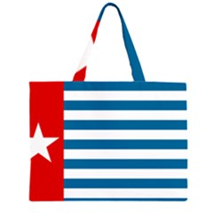 Flag Of Free Papua Movement  Zipper Large Tote Bag