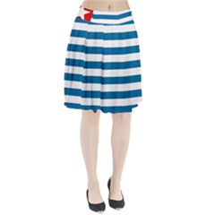 Flag Of Free Papua Movement  Pleated Skirt