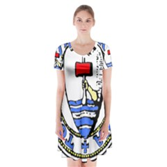 Tórshavn Insigna Short Sleeve V-neck Flare Dress