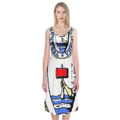 Tórshavn Insigna Midi Sleeveless Dress