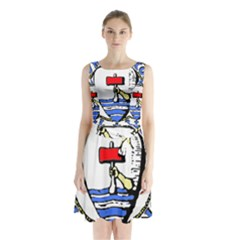 Tórshavn Insigna Sleeveless Chiffon Waist Tie Dress