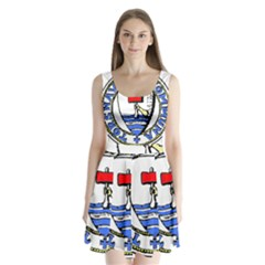 Tórshavn Insigna Split Back Mini Dress