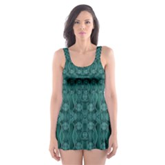 Celtic Gothic Knots Skater Dress Swimsuit