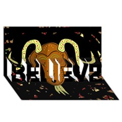 Billy goat 2 BELIEVE 3D Greeting Card (8x4)