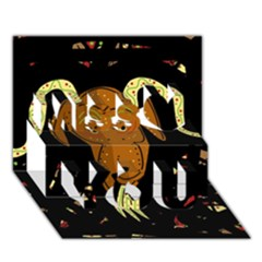 Billy Goat 2 Miss You 3d Greeting Card (7x5)