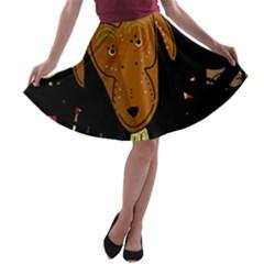 Billy goat 2 A-line Skater Skirt
