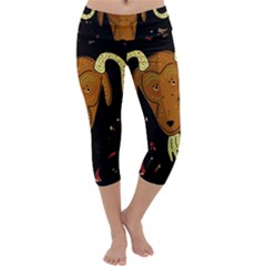 Billy goat 2 Capri Yoga Leggings