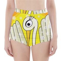 Crane High Waisted Bikini Bottoms